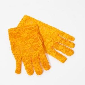 Guante artesanal amarillo fuego para invitada