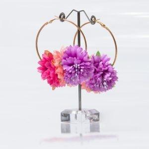 Pendiente floral para flameca