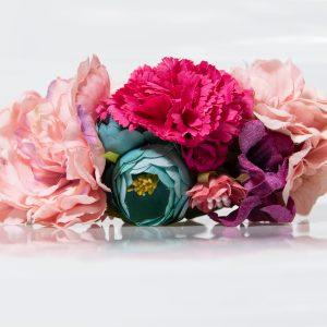 Ramillete multicolor para flamenca