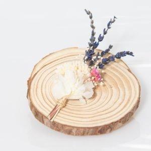 Marcasitios de flores preservadas con lavanda