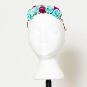 Diadema floral multicolor para invitada